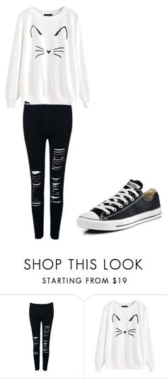 """Casual outfit 3"" by budderprincess ❤ liked on Polyvore featuring WithChic and Converse"