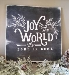 JOY to the WORLD Chalkboard Hand Painted Wood Sign Magnolia Farm Christmas Home Decor. Go to the photo web link more details. JOY to the WORLD Chalkboard Hand Painted Wood Sign Magnolia Farm Christmas Home Decor. Go to the photo web link more details. Christmas Signs, Rustic Christmas, Christmas Home, Christmas Holidays, Christmas Crafts, Christmas Ideas, Christmas 2019, Holiday Ideas, Christmas Phrases