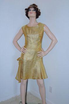 années 1960 or robe de soirée Cocktail années 60 par ModVibeVintage