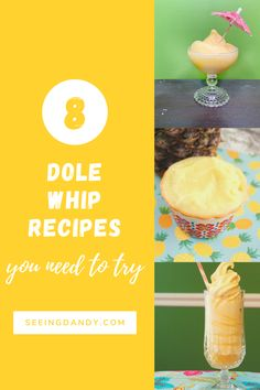 When you can't get a Dole Whip float at Disney World or Disneyland, these are the best Dole Whip recipes that you can make at home! #recipe #icecream #disney #disneyland #disneyworld #disneyfood #recipes #dessert #dolewhip
