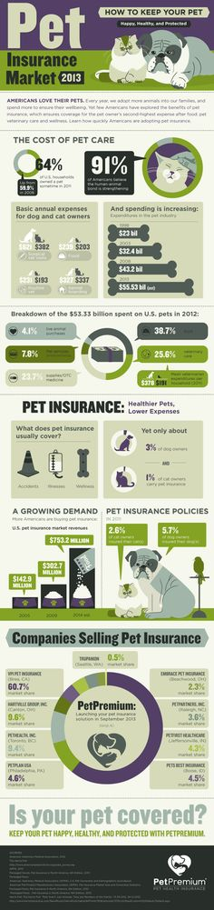 #Pet Insurance Market Infographic: Explore the benefits of pet insurance, the cost of pet care and pet insurance providers in the US, click here