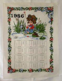 Kalenteripyyhe 1986