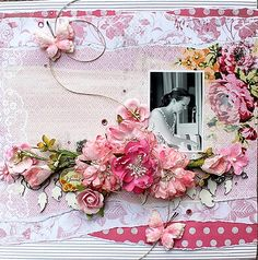 """True Beauty **Swirlydoos Scrapbook kit club** - A DT-layout made for Swirlydoos, using the May kit, """"Spring Chic"""". TFL!!"""