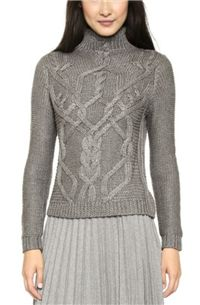 Ami Dans La Rue - Handknit Turtleneck Sweater: When looking for good sweaters for work, we are partial to beautiful tailored options. The trimmer fits create a polished appearance that looks great with anything.
