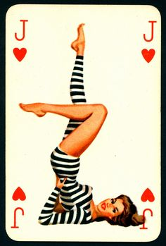 Love this, mudflap girl...Pin Up Playing Card - Jack of Hearts circa 1950's. Via cigcardpix on Flickr.