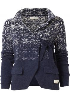 Odd Molly Lovely Knit Jacket bij Eb & Vloed Lifestyle  Well prettier in black and pink bow
