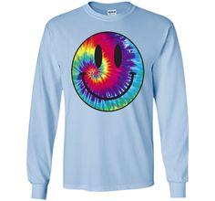 Tie Dye Smiley Face T Shirt | Tie Dye Tee Shirts