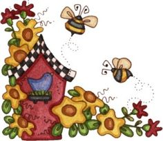 Ilustration by Laurie Furnell Arte Country, Pintura Country, Country Crafts, Country Style, 2 Clipart, Cute Clipart, Vintage Diy, Art Corner, Card Sentiments