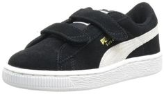 PUMA Suede Classic 2-Strap Sneaker (Toddler/Little Kid/Big Kid),Black/White,6 M US Toddler PUMA http://www.amazon.com/dp/B00B5HV3E4/ref=cm_sw_r_pi_dp_Xspiub0DCN6PT