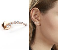 Anita Ko for Tibi - Rose gold floating earring