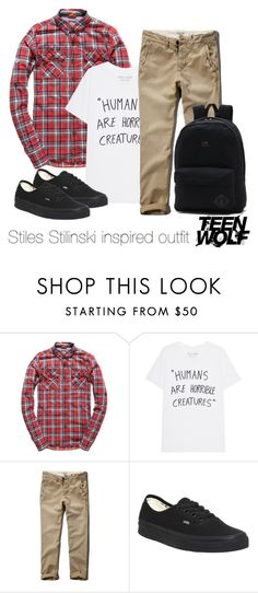 """Stiles Stilinski inspired outfit/TW"" by tvdsarahmichele ❤ liked on Polyvore featuring Superdry, Abercrombie & Fitch and Vans"