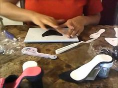 how to make a fondant high heel