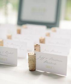wedding escort card idea; photo: Michelle Lange Photography