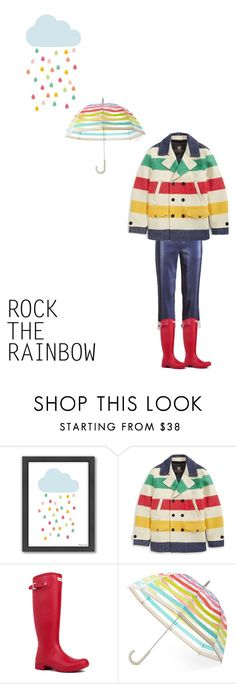 """""""Let's be the rainbow in the rain"""" by fanfan-zheng ❤ liked on Polyvore featuring Americanflat, Hudson's Bay Company, Hunter, Kate Spade, women's clothing, women's fashion, women, female, woman and misses"""