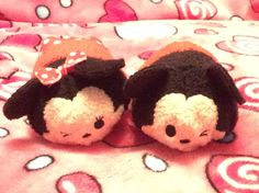 Minnie and Mickey Mouse! Tsum Tsums, Disney Tsum Tsum, Mickey Mouse, Baby Mouse