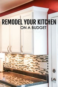 Most kitchen renovations are very expensive, but this trick can make your kitchen look brand new for a fraction of the cost! Here's how to remodel your kitchen on a budget.