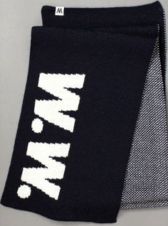 #SALE - WOOD WOOD Logo Scarf Navy