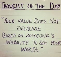 Know your value!