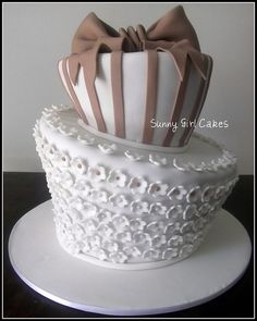 Pretty Cake , any color of ribbon would be nice
