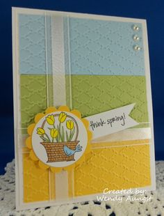 A Flower for All Seasons in Daff Delight, Certainly Celery, Bashful Blue
