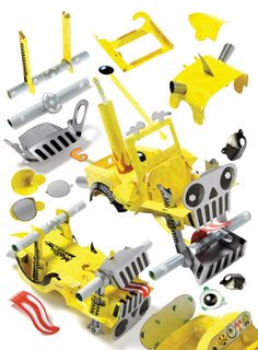Jeepers Creepers Paper Toy Car Motor Monsters Assembly Line