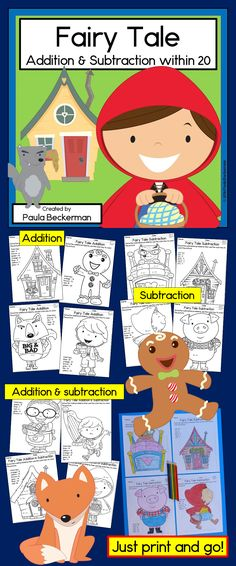 NO PREP fairy tale theme math practice - my first grade students LOVE these activities! $