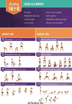 Legs and Cardio Workout | Posted By: NewHowToLoseBellyFat.com