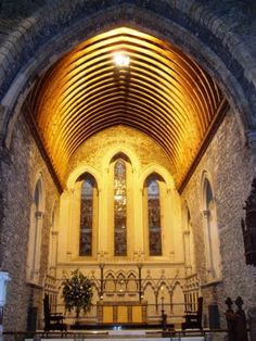 The chancel of Saint Brigid's Cathedral  in  Kildare, Ireland