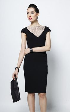 Wooden-front dress