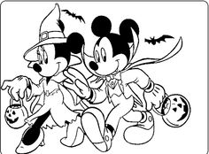 mickey and minnie halloween coloring for kids mickey mouse coloring pages kidsdrawing free - Disney Coloring Pages Halloween