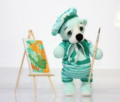 Pierre  Frenchman / Painter  / Handmade Teddy Bear / by TaniaSh
