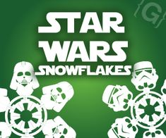 Star Wars Snowflakes ~ Templates to cut snowflakes like Darth Vader, Hans Solo, the Death Star