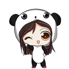 Image discovered by Rubi Prz. Find images and videos on We Heart It - the app to get lost in what you love. Chibi Panda, Panda Kawaii, Kawaii Chibi, Anime Kawaii, Kawaii Disney, Panda Drawing, Cute Panda Wallpaper, Cute Cartoon Girl, Chibi Girl