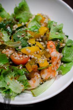 Salade au sarrasin et aux crevettes | Piratage Culinaire