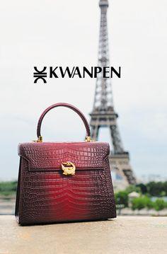 BOUQUET | 創業80周年を迎えたクロコダイル専門ブランド [クワンペン] Signature Collection, Hermes Kelly, Crocodile, Celebrities, Leather, Bags, Style, Fashion, Handbags