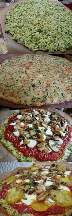 Zucchini Crust Pizza! | Bake a Bite http://seattlelocalfood.com/2010/09/12/zucchini-crust-pizza/