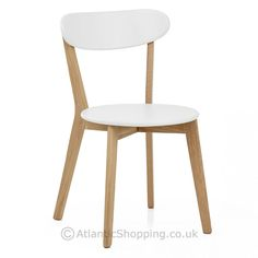 Simple yet undeniably stylish, our Rush Oak & White Dining Chair is a popular Scandi design that would work just as well at the kids' homework desk as it would at the dining table. Cream Dining Chairs, Kitchen Chairs, Kitchen Furniture, Dining Table, White Chairs, Dining Sets, Homework Desk, Kids Homework, Home Kitchens