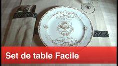 Coudre un set de table facilement - YouTube Decorative Plates, The Creator, Creations, Tableware, Apron, Home Decor, Youtube, Dressmaking, Flatware