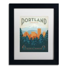 'Portland' by Anderson Design Group Framed Graphic Art