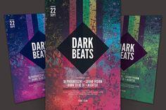 Dark Beats Flyer. Flyer Templates