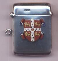 Edwardian Silver And Enamel Vesta Case - Daniel Bexfield Antiques.