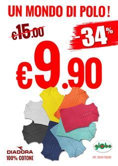 Super Offerta! Polo smanicata Diadora Donna a solo € 9.90  Scegli il colore della tua estate!!
