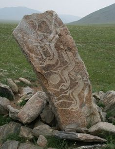 Mongolian Deer Stone. Deer stones (also known as reindeer stones) are ancient…