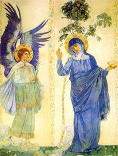 Artist: Mikhail Nesterov  Style: Art Nouveau (Modern)  Genre: religious painting