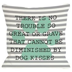 #Dog #Kisses Pillow