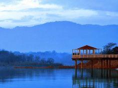"Spectacular evening view of ""Rawal Lake Islamabad, Pakistan."""