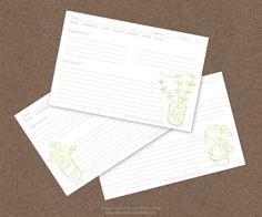 free herb recipe cards printable