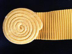80's Sunshine Yellow Rope Swirl Scrunch by SpeckledRedThrift, $12.00