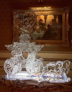 Sabrina John Fantasy Carriage with horses ice sculpture Snow Sculptures, Sculpture Art, Ice Sculpture Wedding, Ice Luge, Frozen Snow, Ice Art, Snow Art, Ice Ice Baby, Snow And Ice