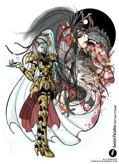 Fanart - Gemini Paradox (Saint Seiya Omega) by Ferenike